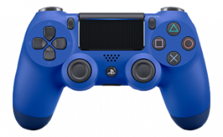 Фотография Геймпад Playstation 4 Синяя волна (Blue) V2 [=city]