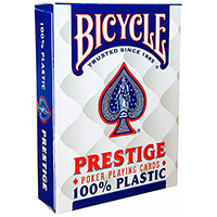 Фотография Карты Bicycle Prestige 100% пластик, синие (К-055) [=city]